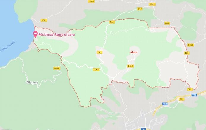 Map d'Alata